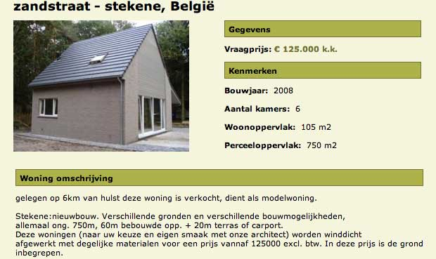 Stekene verkocht actiegroep weekendhuisjes te koop for Huizen uit de hand te koop oost vlaanderen